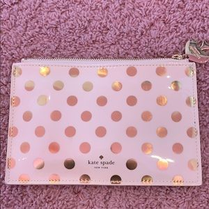 Kate Spade cream and gold dotted bag
